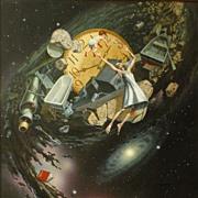 American Art - Jim Thiesen - Something Passed By - Vintage Original Illustration Art