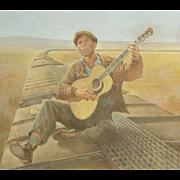 American Art - Tom Jung 1976: Bound For Glory Poster Original Art