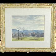 Franz Xaver Weidinger: Vintage Austrian Landscape Watercolor