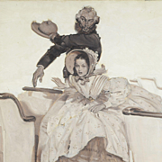 1927 Original Illustration Oil on Canvas