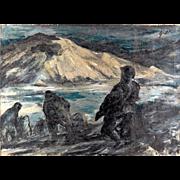 SALE John Groth Oil on Canvas circa 1950s
