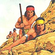 R. A. Osborne: Broken Arrow - 1950s  Book Cover Original Illustration Gouache