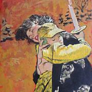 "American Art - Thornton Utz: ""The Boy Who Stayed Behind"", 1960 Cosmopolitan Original"