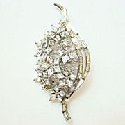 Crown Trifari Twinkle Rhinestone Brooch 1952 Philippe
