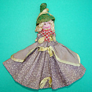 SOLD C1950s Hand Painted Cloth Artist Doll by Mrs Millea Salem Massachusetts 6 1/2 in