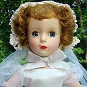 Stunning 1951-55 Madame Alexander Margaret Bride Doll 15 Inch