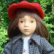 1995 Maggie Iacono Corey Felt Doll LE 15/75 Mint in Box 17 Inch