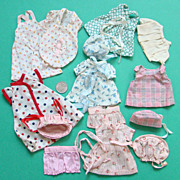 Original Old Mother Made Doll Wardrobe Outfits for 6 to 7 Inch Doll
