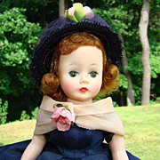 C1958 Cissette Doll Madame Alexander 820 Navy Taffeta Dress