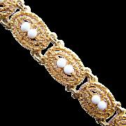 1973 Sarah Coventry Soft Swirl Link Bracelet 9567 Signed