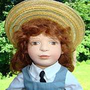 1993 Maggie Iacono Jillian Felt Girl Doll Limited Edition 77/200 Maggie Made
