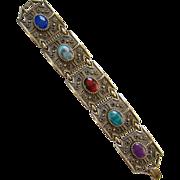 Sarah Coventry Granada Bracelet Multicolor Stones 1972