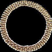 C1950 Crown Trifari Goldtone Link Choker Necklace Pre 1955 Pat Pending