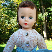 1957 Cissette Doll Brunette 905 in Black Toreador Pants Madame Alexander