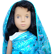 1986 Sasha Black Hair Sari Doll 117s Turquoise Limited Edition Trendon England