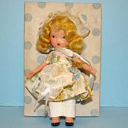 Nancy Ann Storybook Bisque Doll FL 118 Little Miss Muffet in Box