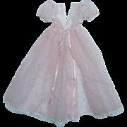 Madame Alexander Cissy Doll Pink Organdy Rosebud Flock Negligee C1957