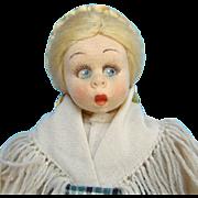 C1930s Lenci Felt Costume Mascotte Doll Valtellina Lombardia Tagged 310/92