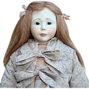 SOLD Lynne and Michael Roche Artist Doll Hannah 247 Porcelain Head Wood Body 21 Inch