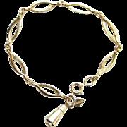 1964 Sarah Coventry Delightful Link Bracelet 9986 Gold Tone