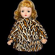 Vintage Leopard Print Faux Fur Coat for Madame Alexander Cissy Doll