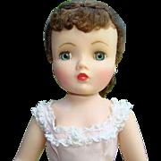 Renoir Cissy Doll Elaborate Brunette Hairstyle Nightgown Madame Alexander 1961