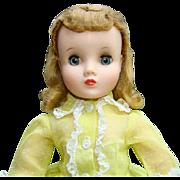 Elise Doll in Original Yellow Flocked Shirtwaist Dress Blond Hair Madame Alexander