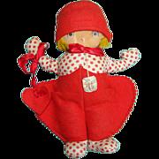 C1930s Georgene Averill To My Valentine Novelty Cloth Felt Doll Original Tag 9 Inch Rare