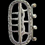 18th Century 1700s Mens Neckwear Silver Stock Cravat Buckle Hallmarked JB Georgian Era