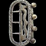 18th Century Mens Neckwear Silver Stock Cravat Buckle Georgian Era 1700s