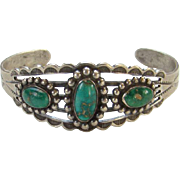 Turquoise Sterling Cuff Bracelet Maisels Trading Post Albuquerque Navajo Native American India