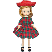 SOLD 1959 American Character Betsy McCall Doll in Holiday Outfit Blond 8 Inch