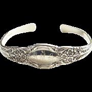 Vintage Lunt Sterling Silver Spoon Cuff Bracelet Engraved GMA Signed