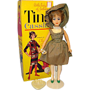Tina Cassini Fashion Doll Wrist Tag Original Box Outfit Ross Products Featured in Price Guide
