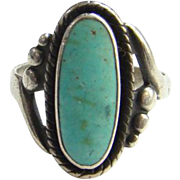 Bell Trading Post Navajo Seafoam Green Turquoise Ring Sterling Silver Size 7 Native American .