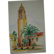 SOLD Vintage Signed Drawing Dated 1936 La Jolla California