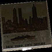 Vintage New York Skyline Ladies Powder Compact by Pilcher