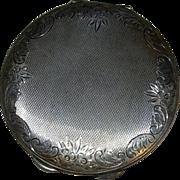 Vintage Sterling Silver Ladies Powder Compact