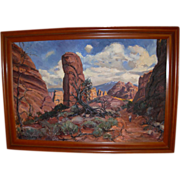 "REDUCED Vintage Original Large Oil Painting by William Dampier  1910-1985 ""Diablo Canyon"
