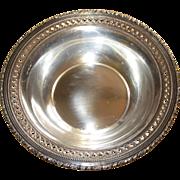 SOLD Vintage Sterling Silver Bon Bon Dish Bowl