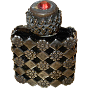 Vintage Miniature Glass Perfume Bottle w/ Dipper