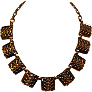 SALE Vintage Copper Adjustable Necklace