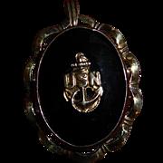 Vintage USN Military Sweetheart Locket Pendant