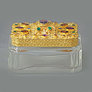 SALE Czech Jeweled Trinket Box