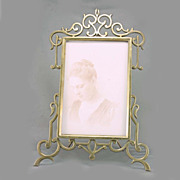 SALE English Art Deco Brass Picture Frame