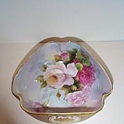 REDUCED Hand Painted Triangular Noritake Bowl