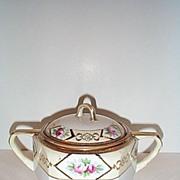 REDUCED Hand Painted Noritake Sugar Bowl