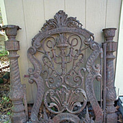 REDUCED Cast Iron Gate dated 1862