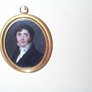 SOLD Portrait Miniature of Gentleman ca.1822 signed Canon