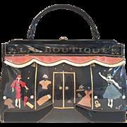 SALE Super Rare 1950's Soure New York; LA Scene Handbag